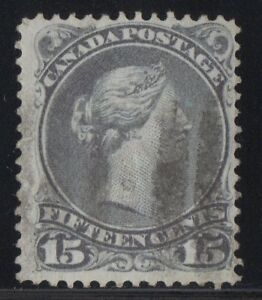 MOTON114-29-Large-Queen-15c-Canada-used-well-centered