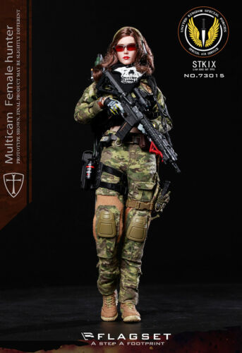 FLAGSET FS-73015 MC War Angel Multicam Female Hunter Angela 1//6 FIGURE