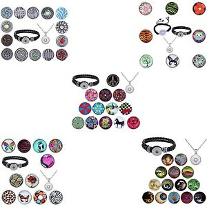 Click-Button-Clickbutton-XXL-Set-Halskette-Armband-kompatibel-mit-Chunk-Chunks