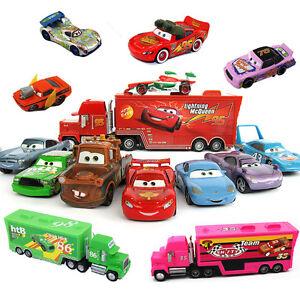 Disney-Pixar-Car-Truck-Diecast-Metal-Frank-Mcqueen-The-King-Mater-Pin-Sally-Red