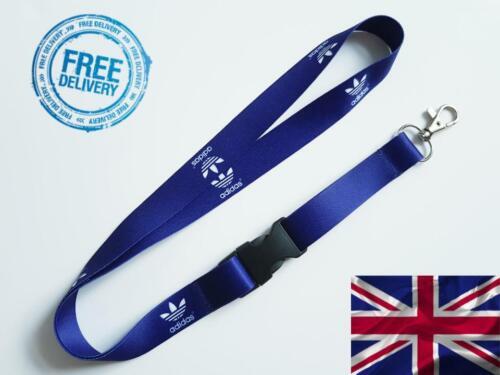 W 20mm L 52cm ADIDAS navy blue Lanyard Neck Strap for Keys ID Card Holder