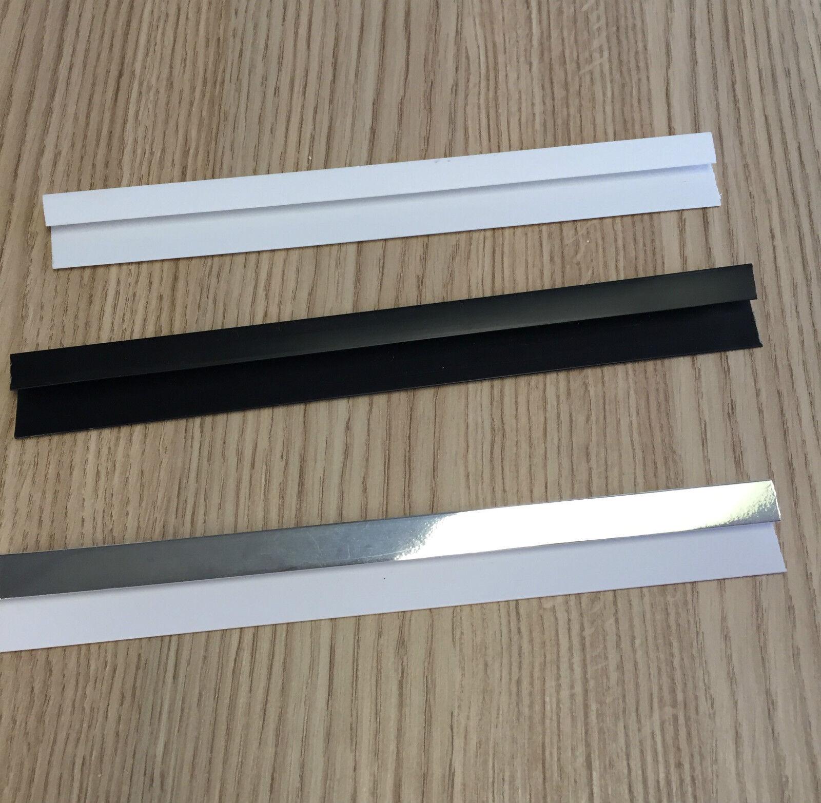 White End Cap Trim 2.6m Plastic PVC Wall Panels Cladding 5mm Silver Black