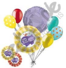 7 pc Hippo Birdie to You Happy Birthday Balloon Bouquet Decoration Hippopotamus