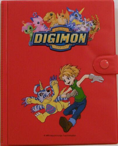 DIGIMON-ALBUM RACCOGLITORE DI CARD GAME O TRADING-40//80 rosso
