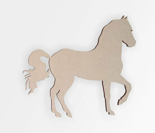 Wall Hanging Home Decor Wooden Shape- Wooden Cut Out Wall Art Horse magestic