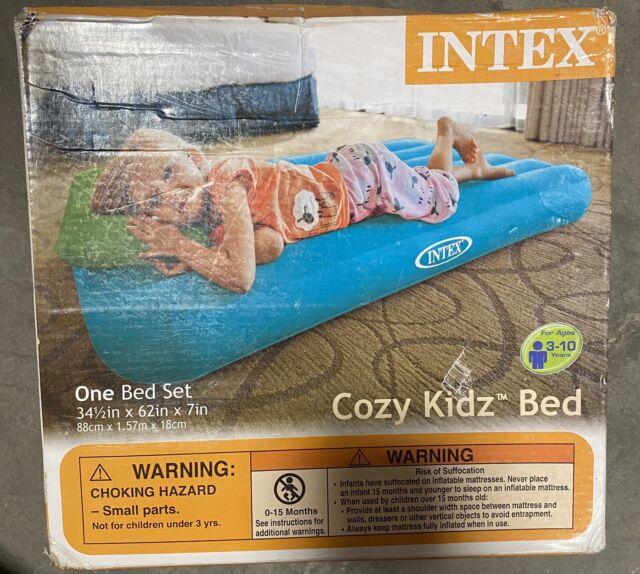 Intex Cozy Kidz Airbed Inflatable Travel Mattress Kids Bed ...