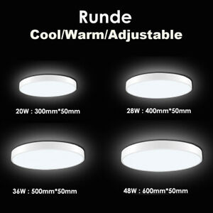 LED-Round-Panel-Ceiling-Down-Lights-Kitchen-Bathroom-Cool-Warm-Dimmable-White-UK