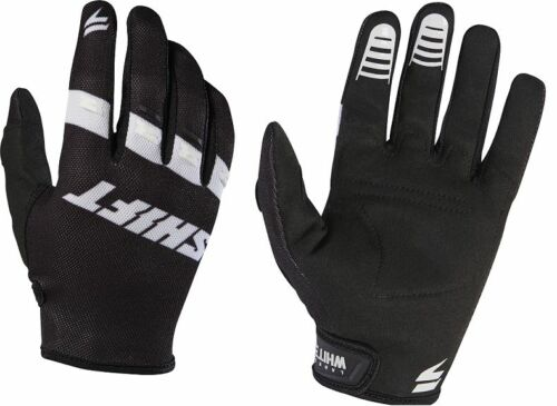 """/""""Youth/"""" Shift WHIT3 Air Gloves Motorcycle Black White MX ATV Offroad 17229-018"""