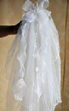 V02 GIRL 1st Holy Communion Headdress 2T Ribbon Veil Flower Girl Comb
