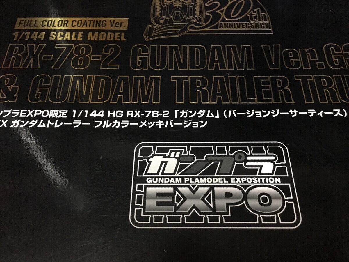 Gunpla Expo begränsad   GUNDAM HG RX78 -02 version G Sertys och EX Gundam tjärnväger
