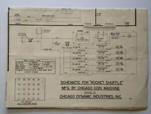 [SCHEMATICS_4FR]  Chicago Coin Rocket Shuffle Alley Wiring Diagram Schematic Arcade Game 1958  | eBay | Arcade Game Wiring Diagram |  | eBay