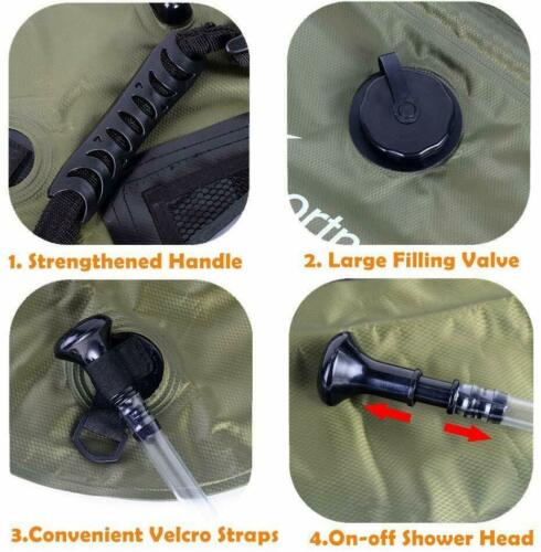 20L Sportneer Solar Shower Bag Portable Heating Camping Shower Bag for Hiking