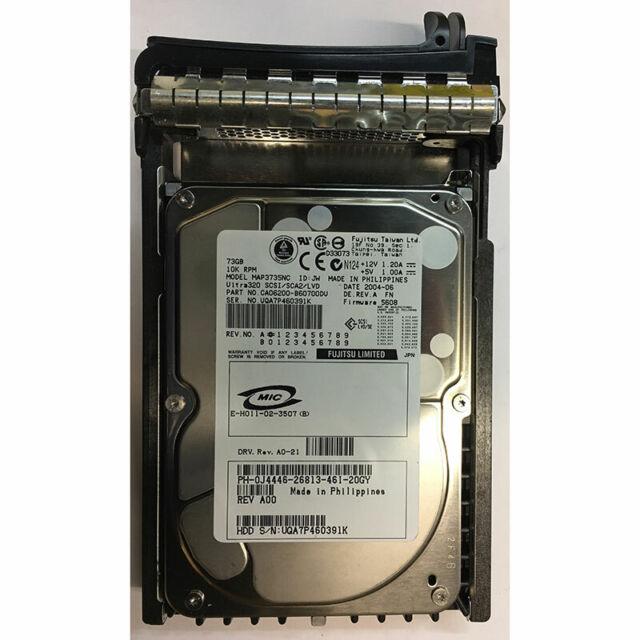 Dell 73GB, 10K RPM, 80 pin w/ tray for Dell Power Edge - J4446