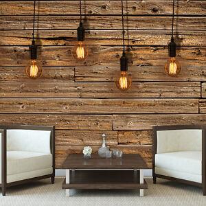 foto wandbild fototapete tapeten holz wand braun brett lichtkegel bild 3fx3373p4 ebay. Black Bedroom Furniture Sets. Home Design Ideas