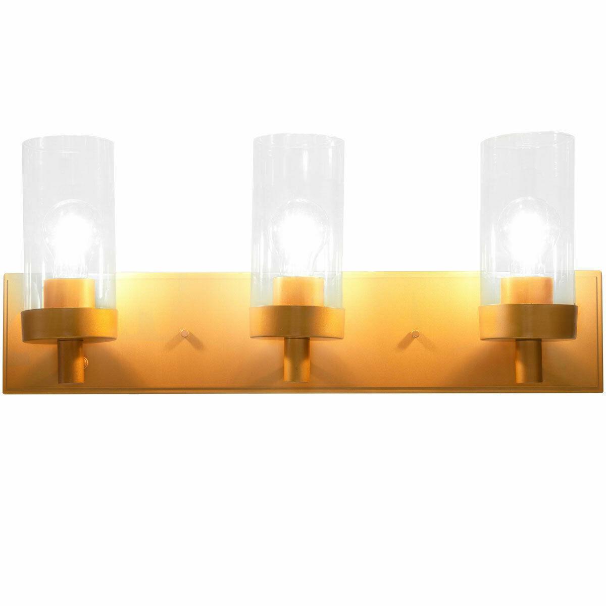 Home Decor Bathroom 3 Glass Light Shade Bath Vanity Fixture Chrome Finish For Sale Online Ebay