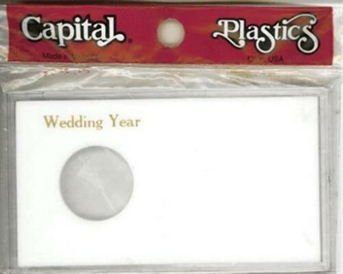Capital Holder White Wedding Year Gift Case Silver Eagle Coin /& Photo Space New