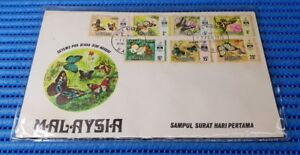 1971-Malaysia-First-Day-Cover-Butterflies-Sabah-Commemorative-Stamp-Issue