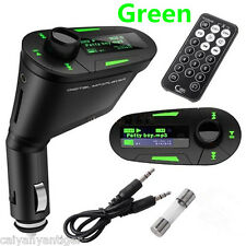 Green LCD USB SD MMC Slot Card MP3 Player+ FM Transmitters Wireless With Remote
