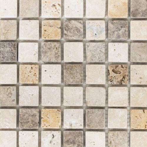 Travertin Mosaik beige//braunKüche Wand WC Fliesenspiegel Art:WB43-46380|1 Matte