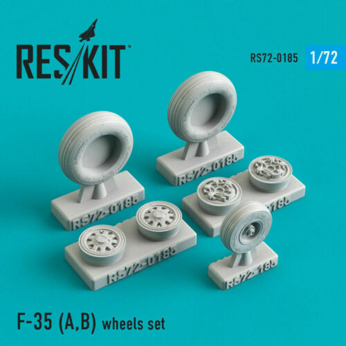 1:72 Resin Detail kit Details about  /Reskit RS72-0185 Wheels set for model F-35 A,B