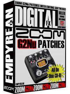 zoom g2nu patches guitar effects pedal tone presets amp settings win mac ebay. Black Bedroom Furniture Sets. Home Design Ideas
