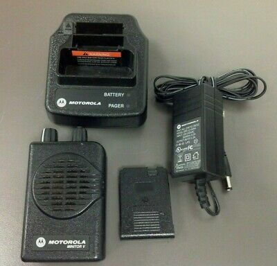 Motorola Minitor 5 Pager Model A03kms9239bc Vhf 2 Ch