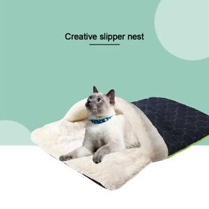 Pet-Cat-Dog-Nest-Bed-Puppy-Soft-Warm-Cave-House-Winter-Sleeping-Bag-Mat-Pad