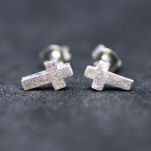 Tiny-Cross-Earrings-Sterling-Silver-925-Crucifix-Little-Girl-Earrings-Christian