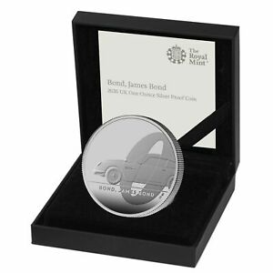 2020 James Bond 007 Aston Martin Db5 163 2 Silver Proof 1oz Coin Box Coa Ebay