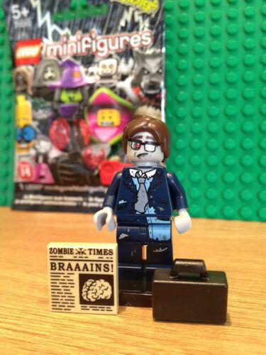 LEGO SERIES 14 ZOMBIE BUSINESSMAN MINT CONDITION