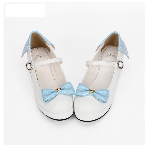 acquisto limitato donna Lolita Mary Jane Sweet Sweet Sweet Girl Wedge Heel Platform Bowknot Date scarpe us4.5-9  con il 100% di qualità e il 100% di servizio
