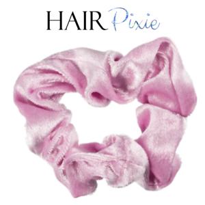 HAIRpixie-PINK-VELVET-Hair-Scrunchie-Hair-Tie-MERMAID-Accessory-Elastic-Band