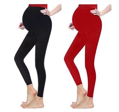 1e409312e830e Women's Soft Comfortable Over Bump Pregnancy Full Length Maternity Leggings