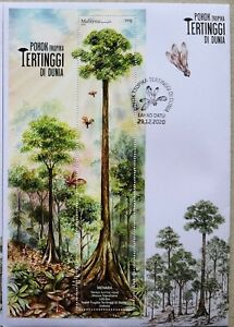 Malaysia FDC with Miniature Sheet (29.12.2020) - World's Tallest Tropical Tree