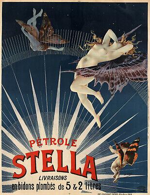 Vintage Poster Print canvas painting art deco petrol advert A1 A2 A3