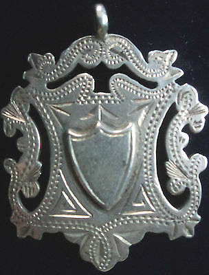 LARGE Attractive Silver Medal / Fob   -  Birmingham 1900 - not engraved