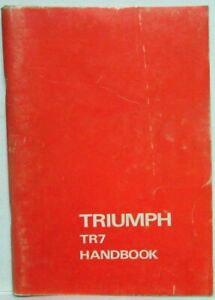 1975-Triumph-TR7-Owners-Manual-Handbook-with-Wiring-Diagram-amp-Consumer-Info