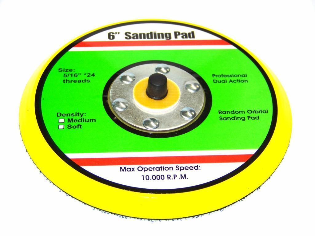 0287 taztool 6 Hook & Loop Sanding Pad for d/a Sander Palm Orbital Dual Action Sander Random