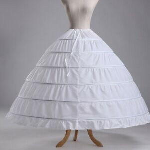 6-Hoops-Petticoats-Bustle-Ball-Gown-Wedding-Dress-Underskirt-Bridal-Crinoline