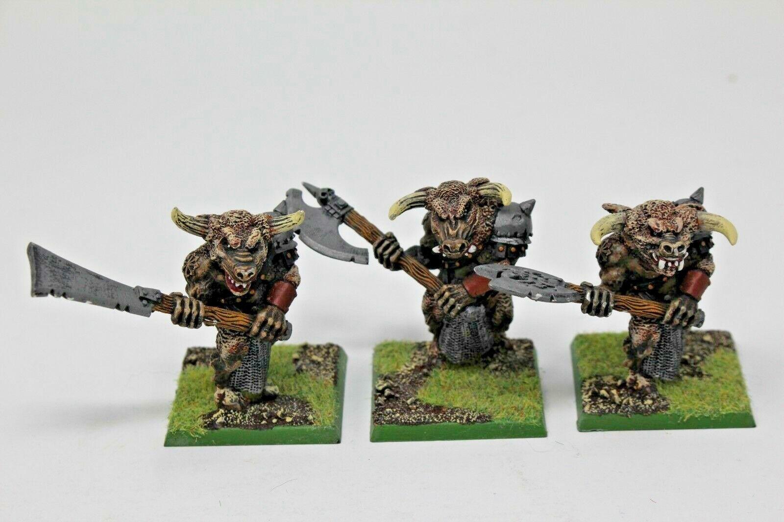 Warhammer Beastmen bullgors bien pintados de Metal-JYS62