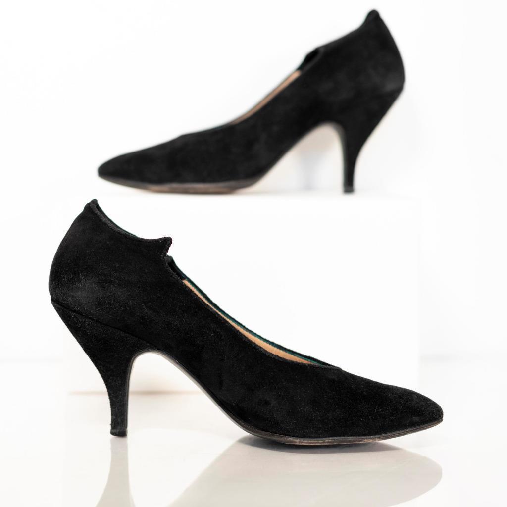 MAUD FRIZON chaussures talons Iconique Vintage en daim noir 37.5 7.5