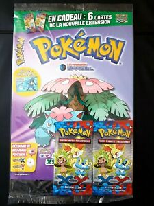 MAGAZINE-POKEMON-OFFICIEL-BOOSTER-ECHANTILLON-XY-1-DE-BASE-BLISTER-carte