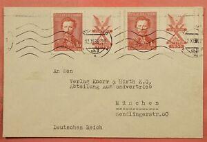 1938-CZECHOSLOVAKIA-MARGIN-INSCRIPTION-SINGLES-ON-COVER-TO-GERMANY