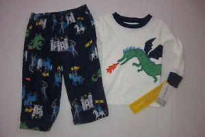 NEW-Carter-039-s-Baby-Toddler-Boys-Size-12-mo-18-mo-2-Piece-Pajamas-Set-Castle