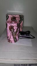 Authentic Retired Scentsy Warmer Mossy Oak Break Up Pink Camo night light NEW