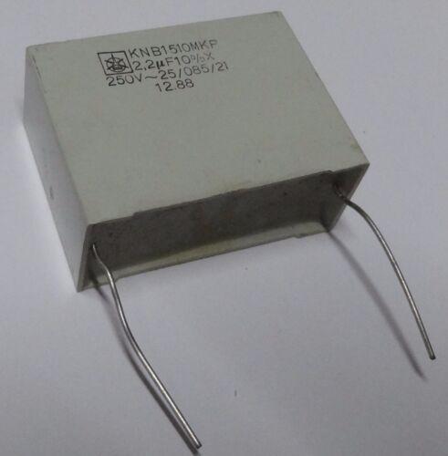 5 x Condensador de Iskra 2.2uf 250vac X KNB1510-MKP Polipropileno metalizado