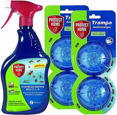 Protect Home Kit Anti Ant Protection Total 4 Traps Gel Spray Barrier Ebay