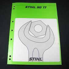 STIHL SG17 BACKPACK MIST BLOWER SPRAYER 2 cycle for sale online | eBay