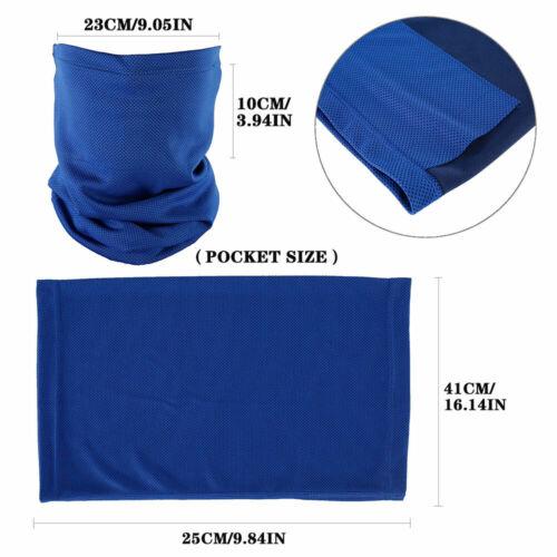 Cooling Neck Gaiter Bandana Headband Face Shield Cover Snood Scarve /& 5 Filtt SC