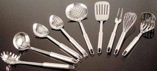Utensils Serve-ware by Buckingham Set of 9 Stainless Steel Kitchen Tools
